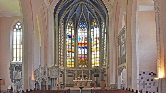 Blick in die St. Marienkirche in Bernburg