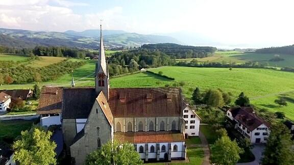 Blick auf das Kloster Kappel