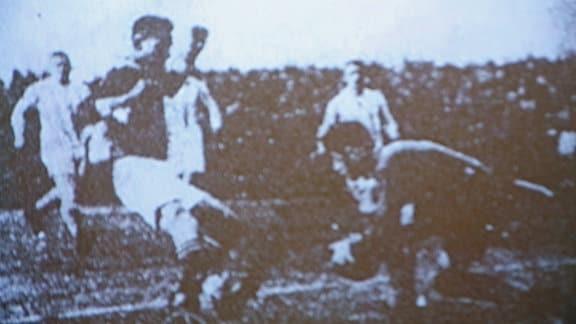 Fritz Rotter im Tor des VfB Leipzig