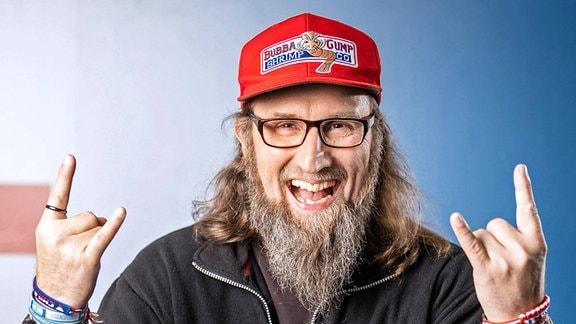 Extremläufer Robby Clemens anläßlich der Aufzeichnung der MDR - Talkshow Riverboat am 08.02.2019 im Studio 3 der Mediacity Leipzig.