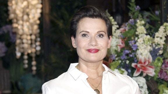 Jenny Jürgens beim Fototermin zur ARD-Serie Rote Rosen in den Rote Rosen Studios.