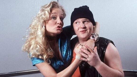 Janine Kunze mit Axel Stein in Hausmeister Krause.