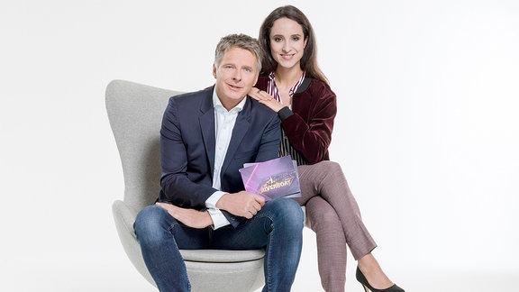 Jörg Pilawa und Stephanie Stumph