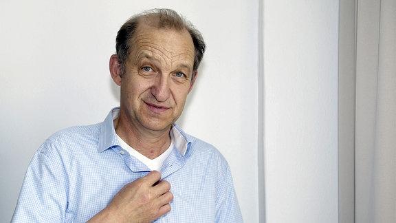 Peter Heinrich Brix beim ZDF-Pressetag im Ellington Hotel.