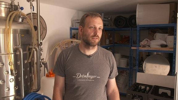 Christoph Treichel in seiner Brauerei.