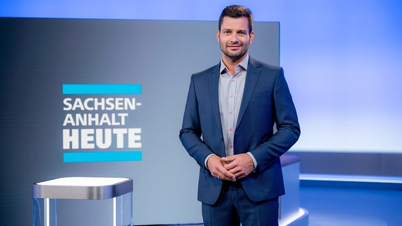 Stefan Bernschein im Sachsen-Anhalt-heute-Studio