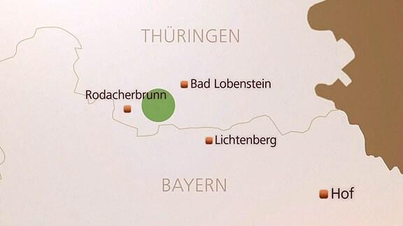 Karte des Fundortes.