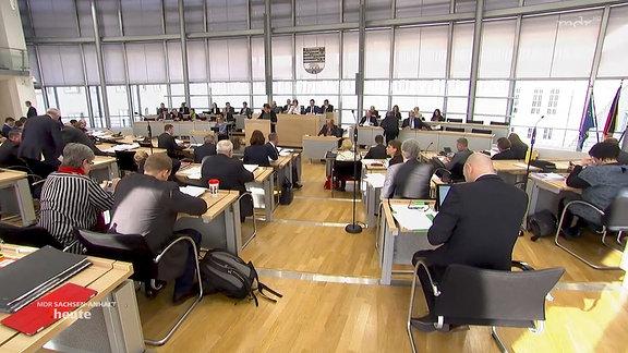 Blick in den Landtag.