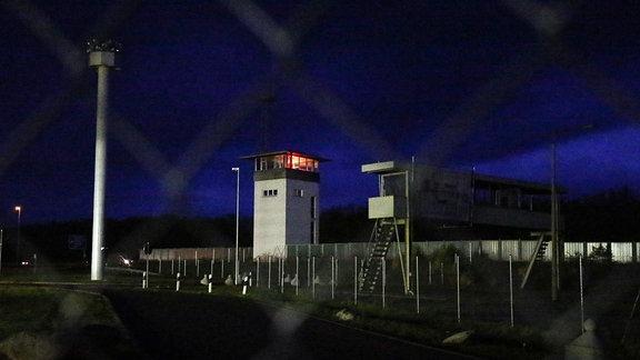 Der Kommandoturm an der ehemaligen Grenzübergangsstelle Marienborn