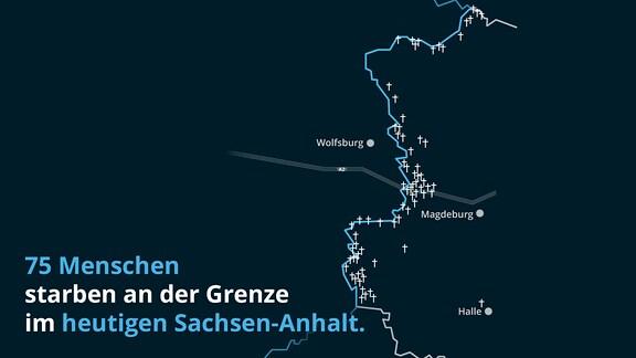 75 Menschen starben an der Grenze im heutigen Sachsen-Anhalt.