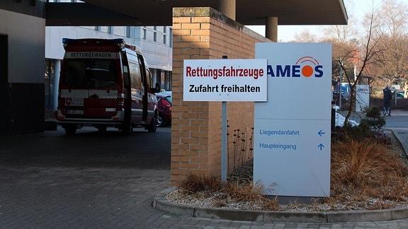 Die Ameos-Klinik von außen