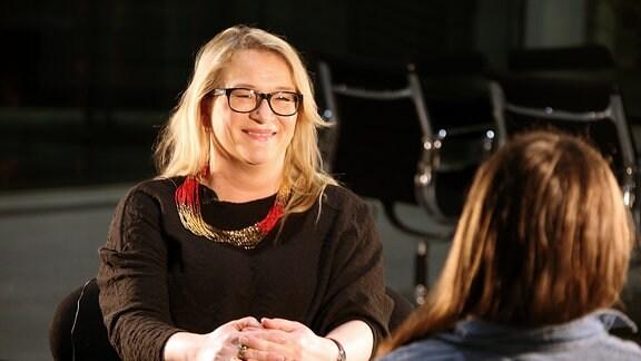SPD-Spitzenkandidatin Katrin Budde hat das Funkhaus von MDR SACHSEN-ANHALT besucht.