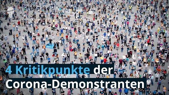 4 Kritikpunkte der Corona-Demonstranten  Querdenken Demo auf dem Canstatter Wasen - Tausende Menschen besuchen die Veranstaltung