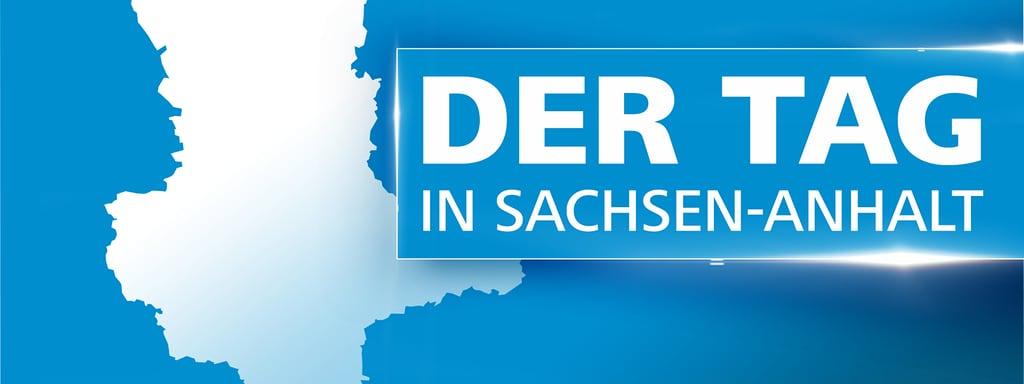 Grafik Mit Karte Von Sachsen Anhalt Und Der Aufschrift Tag In