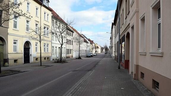 Leere Straße in Köthen
