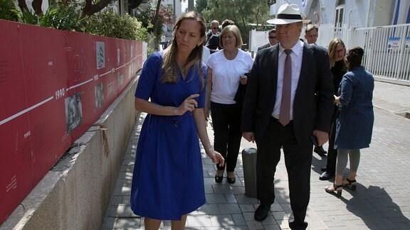 Ministerpräsident Reiner Haseloff und Landtagspräsidentin Gabriele Brakebusch in Tel Aviv.