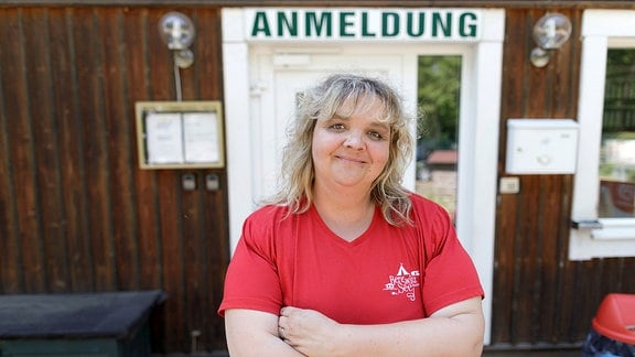 Rezeptionistin Daniela vom Campingplatz Bergwitzsee