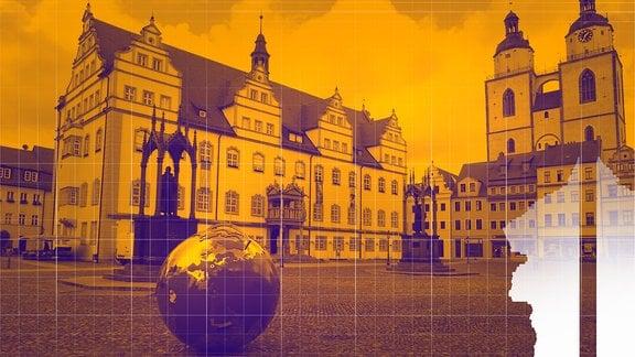 Marktplatz in Lutherstadt Wittenberg