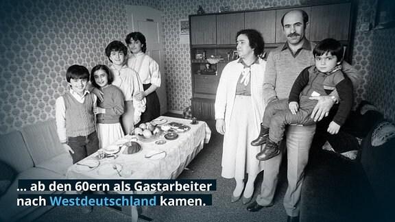 ... ab den 60ern als Gastarbeiter nach Westdeutschland kamen.  Türkischstämmiger Angestellter von Opel mit seiner Familie in Rüsselsheim, 1984