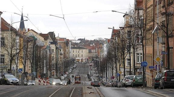 Die Ludwig-Wucherer-Straße in Halle