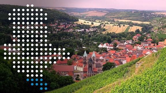 Blick auf eine Landschaft im Burgenlandkreis