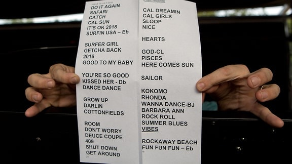 Das Programmheft für das Konzert der Beach Boys