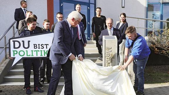 Bundespraesident Frank-Walter Steinmeier in Halle
