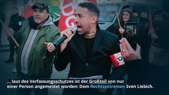 … laut des Verfassungsschutzes ist der Großteil von nur einer Person angemeldet worden: Dem Rechtsextremen Sven Liebich.