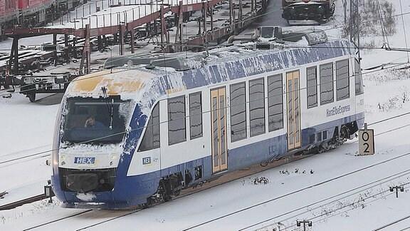 HEX-Zug im Güterbahnhof Halle