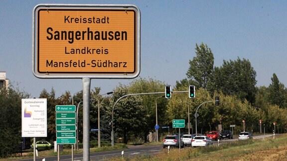 Ortsschild Sangerhausen