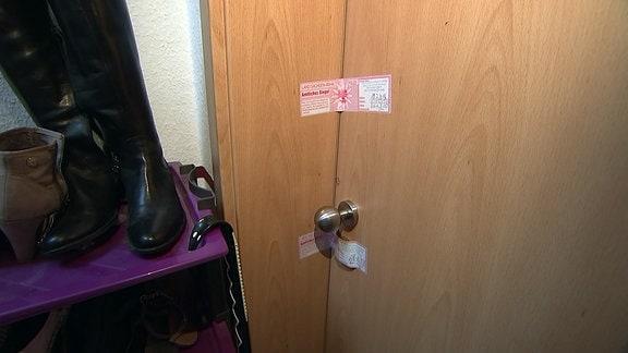 Eine versiegelte Tür