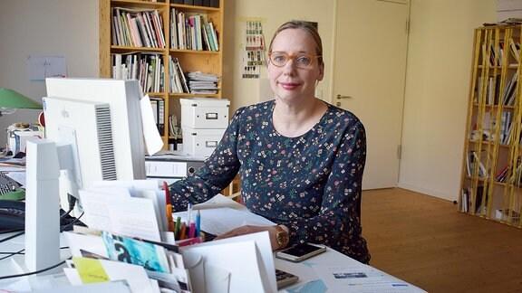 Direktorin Manon Bursian, Direktorin der Kunststiftung Sachsen-Anhalt.