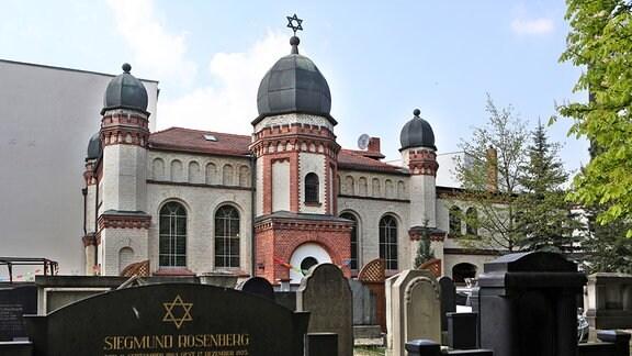 Die Synagoge der Jüdischen Gemeinde Halle/Saale (Sachsen-Anhalt)
