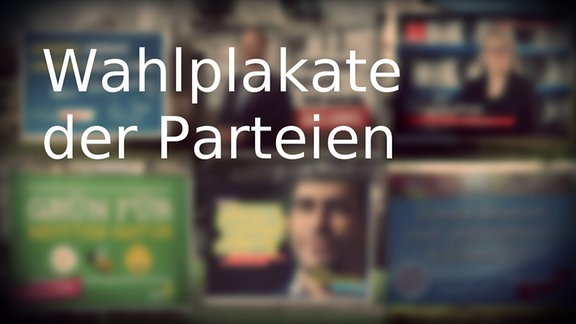 Wahlplakate einiger Parteien vor der Landtagswahl in Sachsen-Anhalt