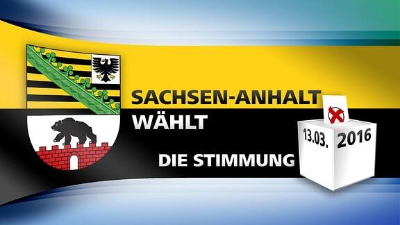 MDR-Logo für die Themenwoche zur Landtagswahl 2016: Sachsen-Anhalt wählt - Die Stimmung