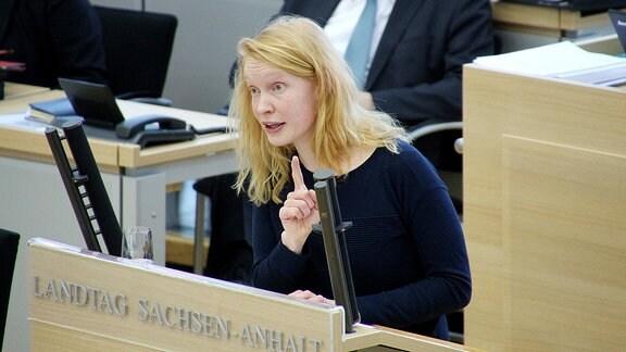 Kristin Heiß, Fraktionsmitglied der Linken im Landtag von Sachsen-Anhalt.