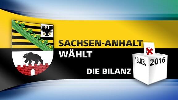 MDR-Logo für die Themenwoche zur Landtagswahl 2016: Sachsen-Anhalt wählt - Die Bilanz