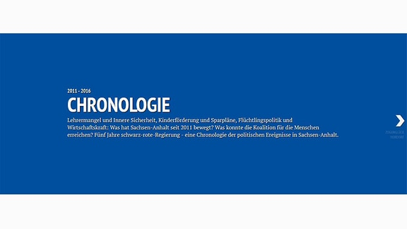 Screenshot der Chronlogie Sachsen-Anhalt 2011 - 2016