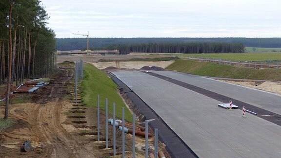 Eine Autobahnbaustelle