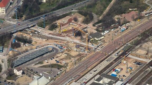 Magdeburg: Baustelle Citytunnel