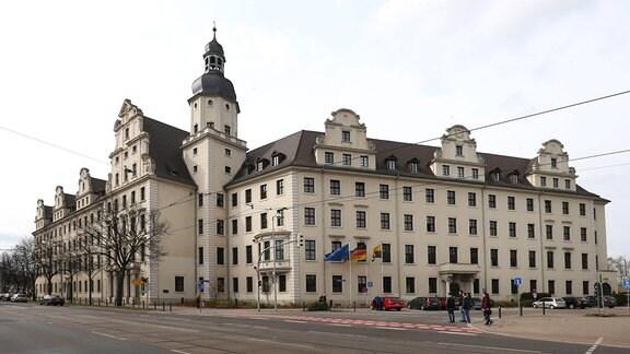 Das Innenministerium von Sachsen-Anhalt in Magdeburg
