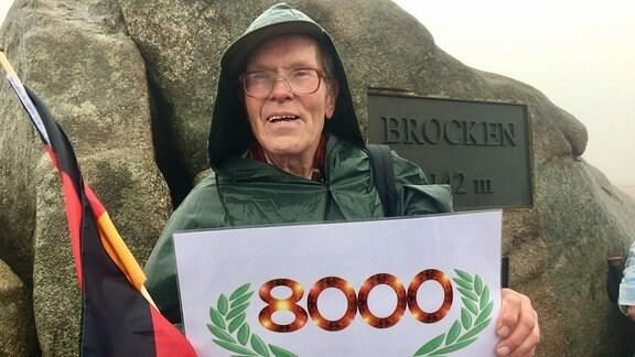 Brocken-Benno macht 8.000. Brockenaufstieg