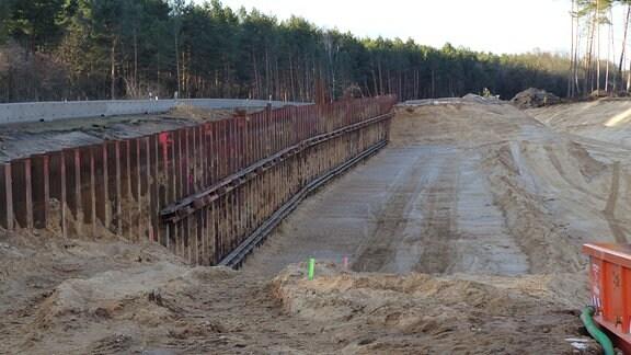 Baustelle A14-Nordverlängerung
