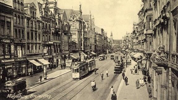 Breiter Weg Magdeburg, historisch
