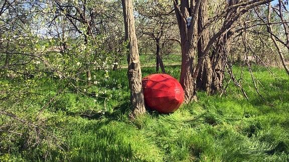 Riesen-Osterei versteckt bei Schlanstedt