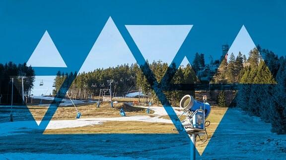 Harz Skipiste Schneemangel