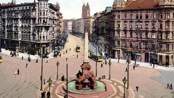 Hasselbachplatz mit Brunnen, Aufnahme um 1935