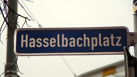 "Das Straßenschild ""Hasselbachplatz"""