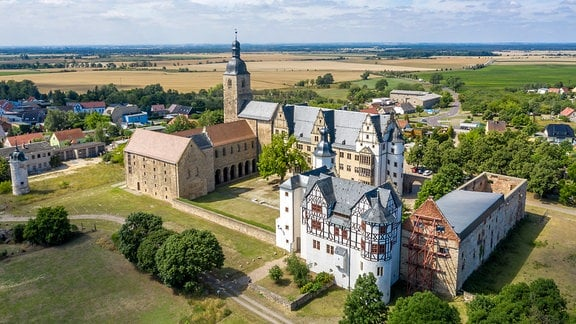 Blick auf das Schloss Leitzkau
