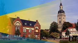 Marktplatz mit Kirche und Rathaus in Genthin | imago/Schöning